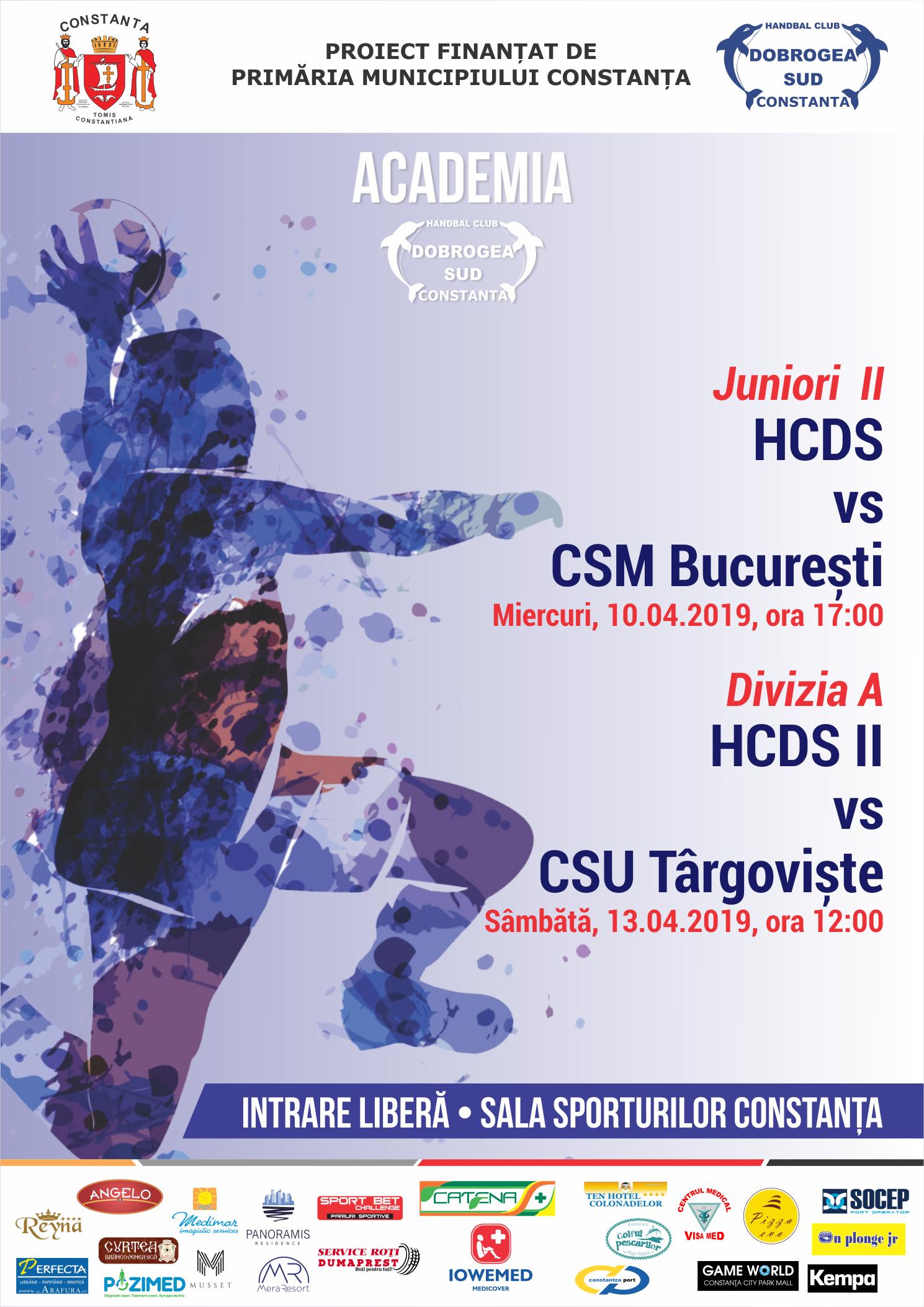 afis Academia Dobrogea Sud Constanta HCDS vs. CSU Targoviste 13.04.2019