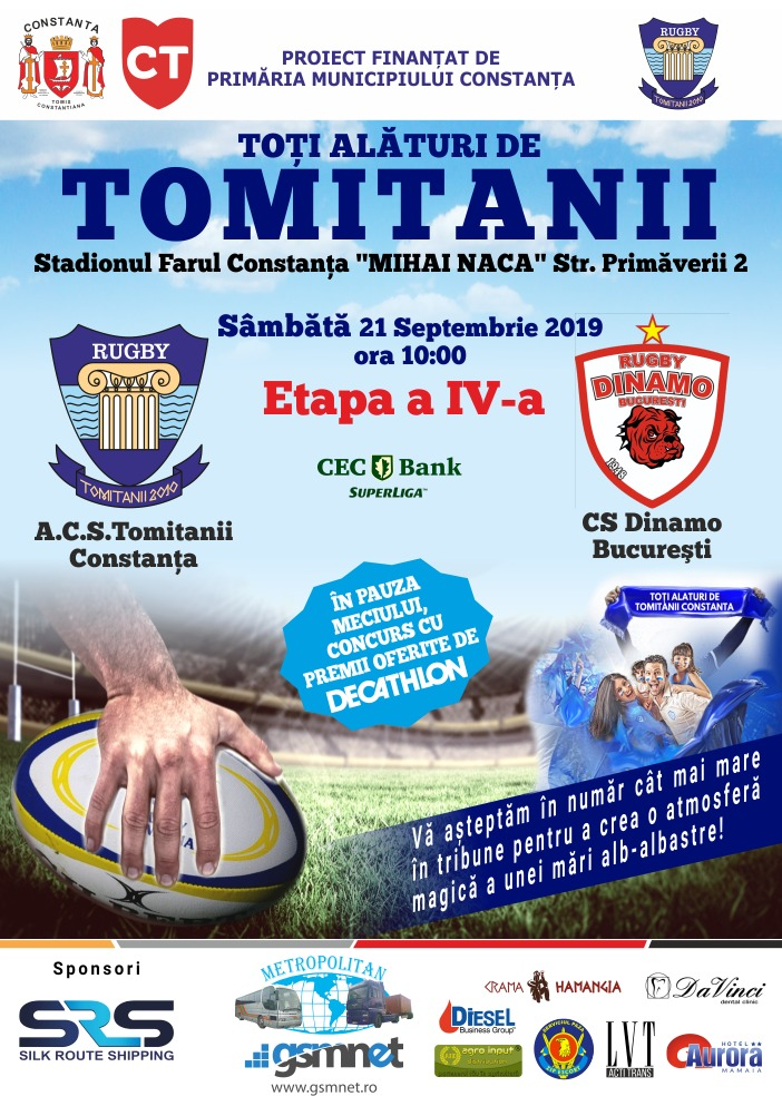 afis ACS Tomitanii Constanta vs CS Dinamo Bucuresti 21.09.2019