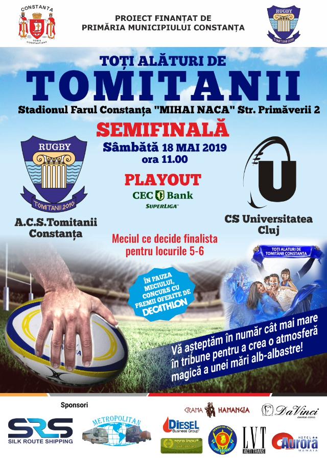 afis ACS Tomitanii Constanta vs CS Universitatea Cluj 18.05.2019
