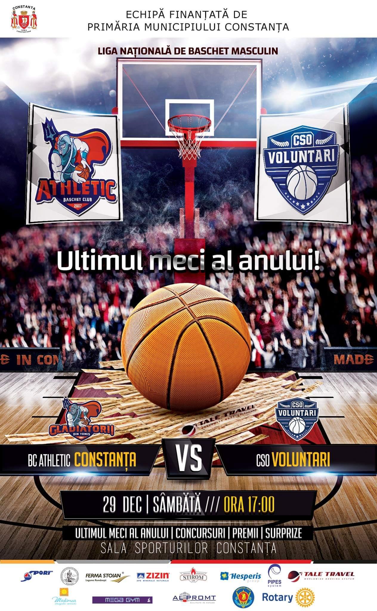 afis BC Athletic Constanta vs CSO Voluntari 29.12.2018