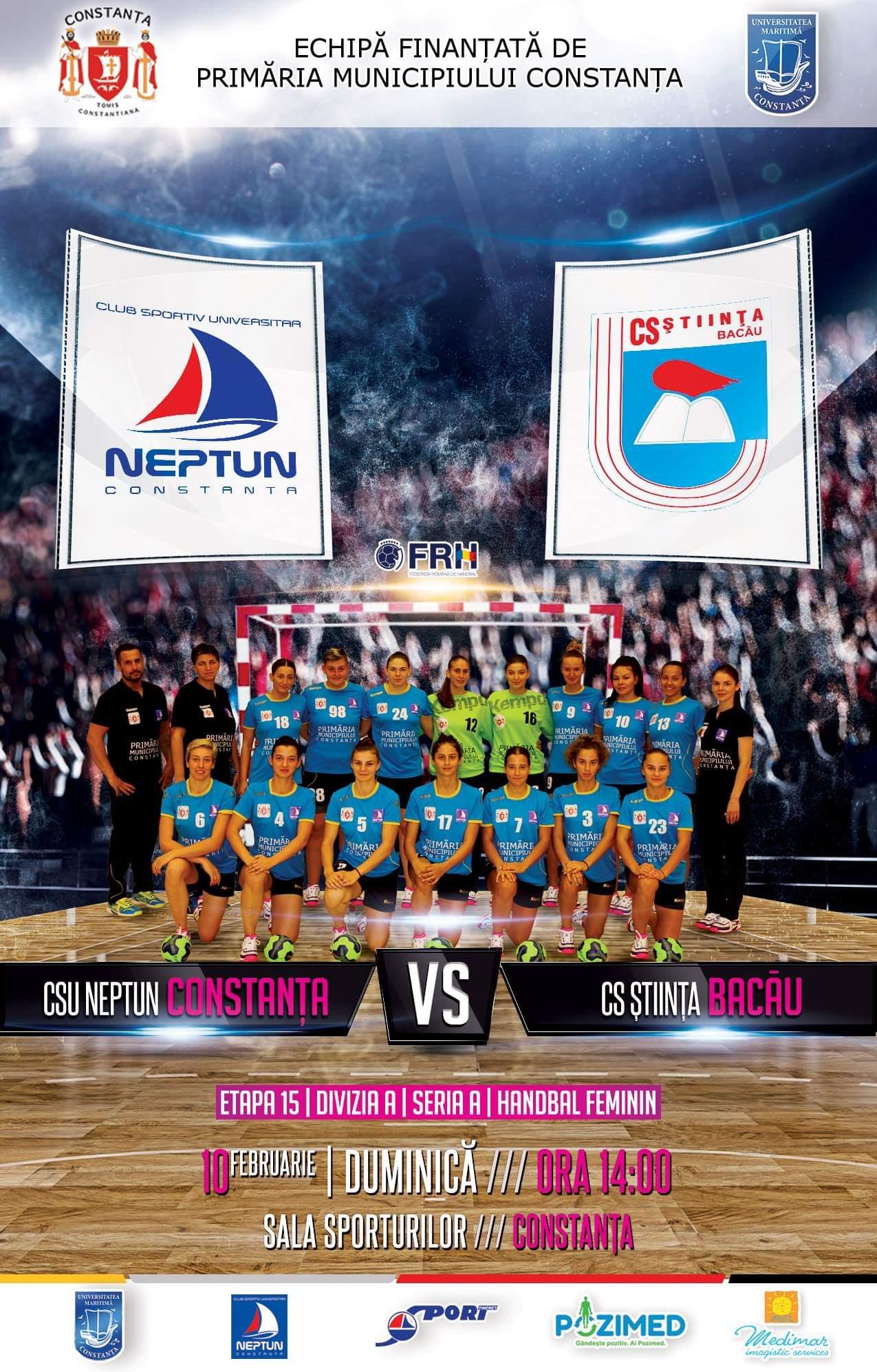 afis CSU Neptun Constanta vs. CS Stiinta Bacau 10.02.2019