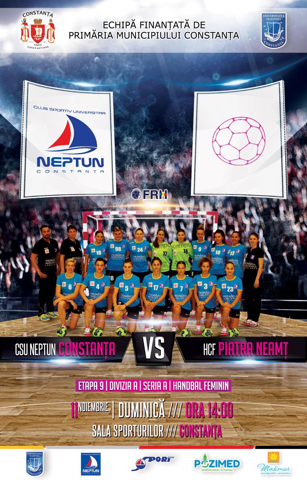afis CSU Neptun Constanta vs HCF Piatra Neamt 11.11.2018