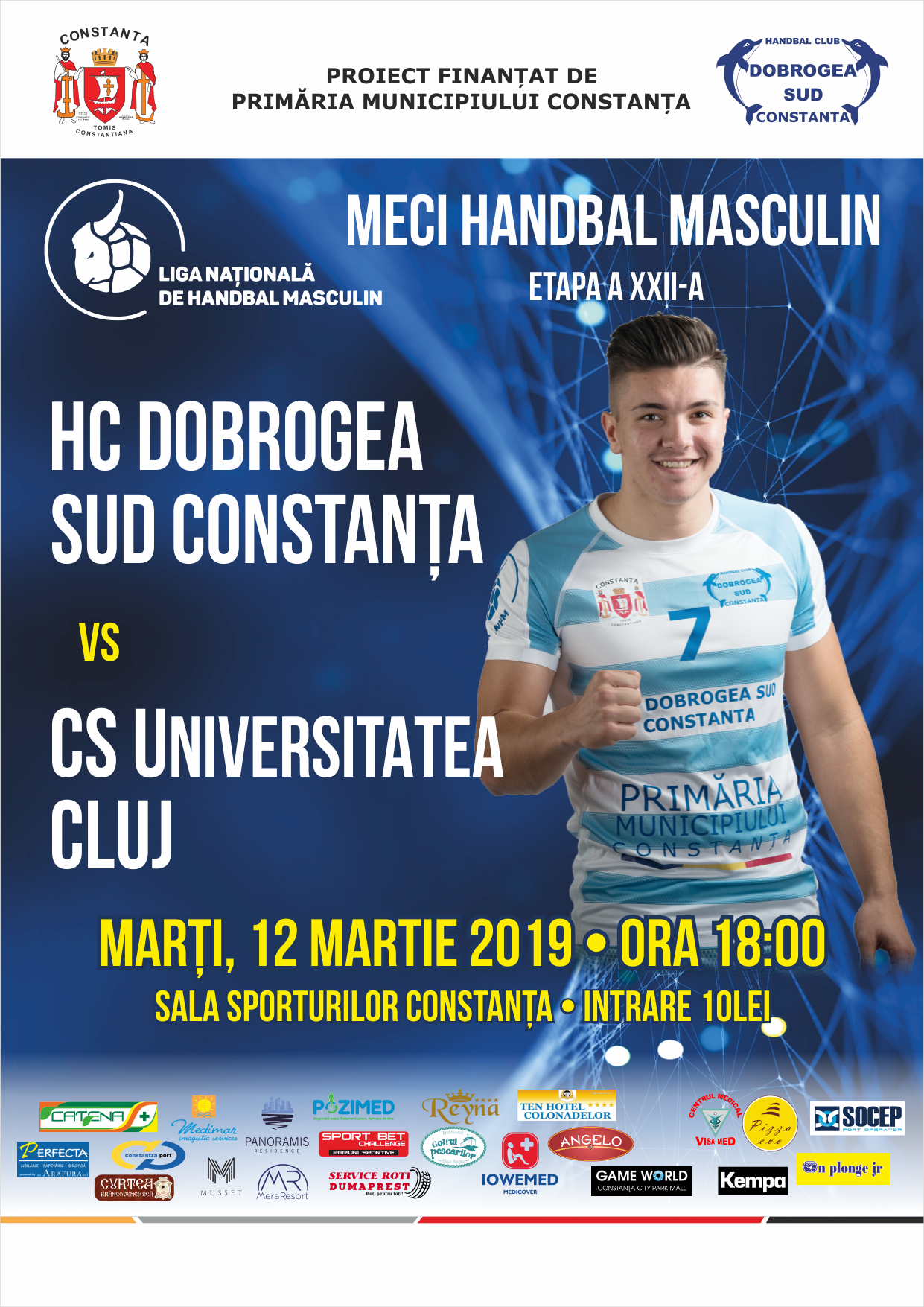 afis HC Dobrogea Sud Constanta vs. CS Universitatea Cluj 12.03.2019.png afis final