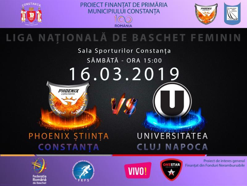 afis Phoenix Stiinta Constanta vs. Universitatea Cluj napoca 16.03.2019