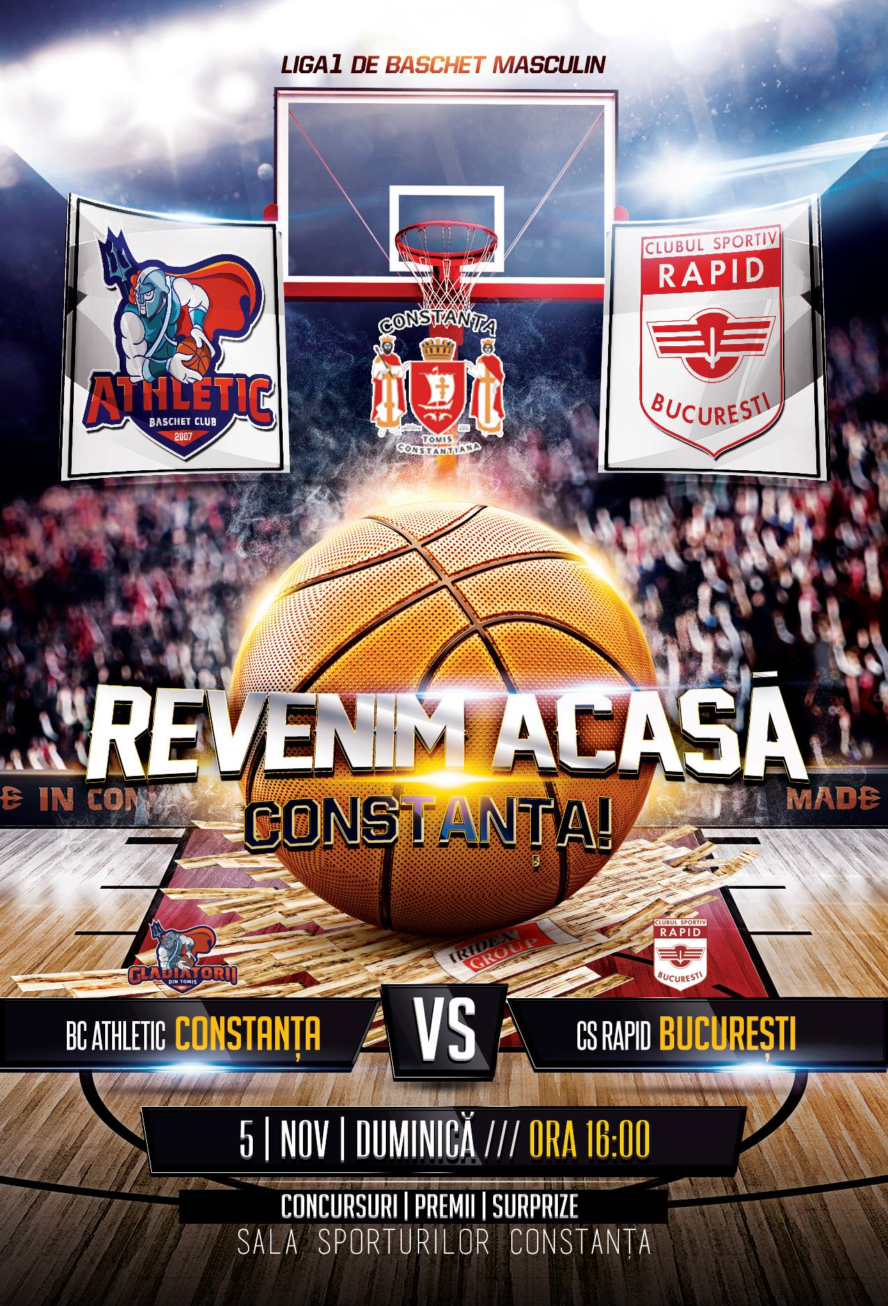 BC Athletic Constanta vs Rapid  Bucuresti