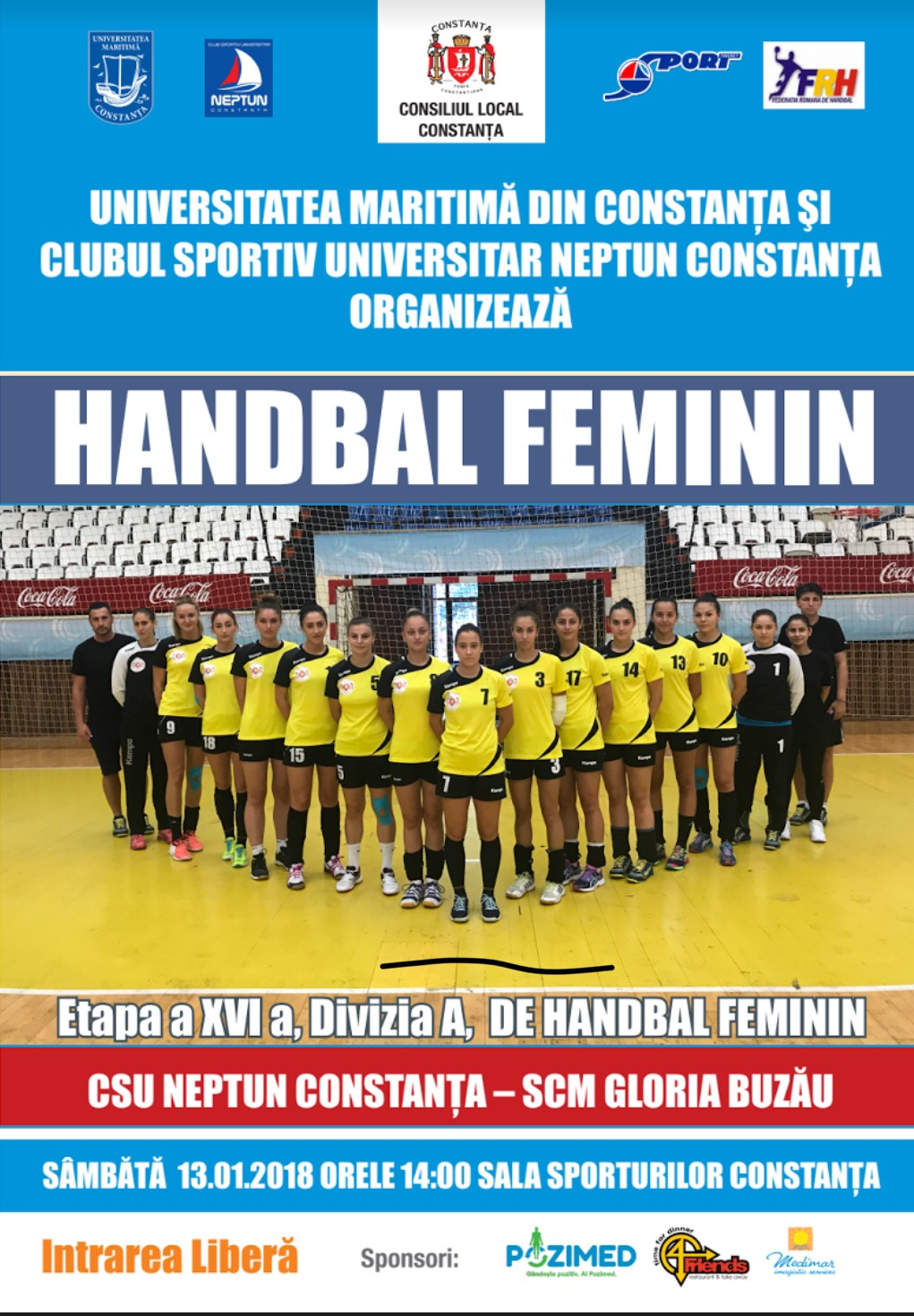 halndbal feminin 09.01.2018